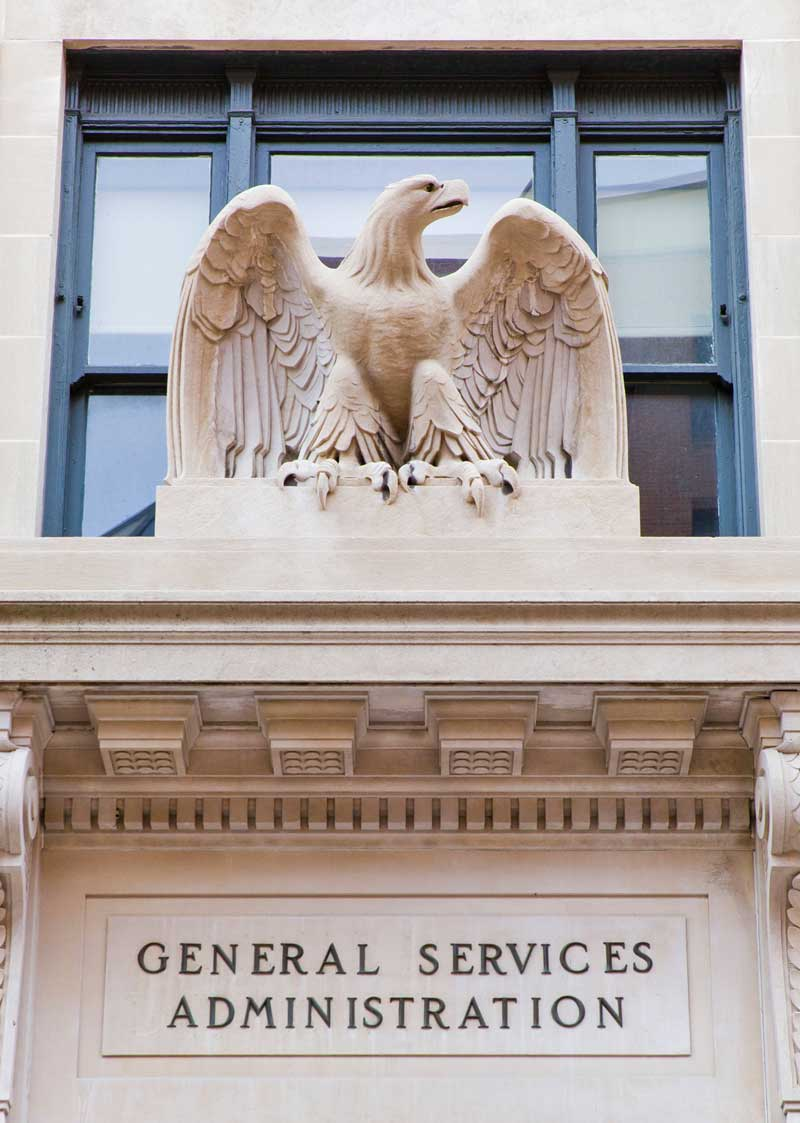 US General Services Administration Real Estate Building Entrance